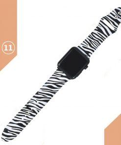 Apple watch zebra desenli kordon kayış