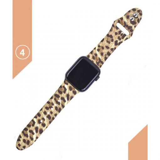 Apple watch leopar desenli kordon kayış