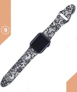 Apple watch siyah desenli kayış