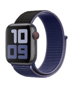 38mm 40mm spor loop naylon kayış midnight blue