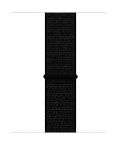 42mm 44mm spor kordon naylon örme kayış dark black