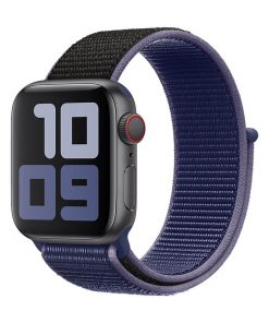42mm 44mm spor loop naylon kayış midnight blue