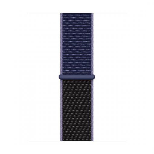 42mm 44mm spor kordon naylon örme kayış midnight blue