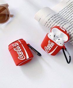 coca cola desenli silikon airpods kılıfı