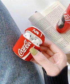 Kapağı açık kola kutusu desenli airpods kılıfı