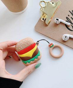Hamburger desen airpods kılıfı elden