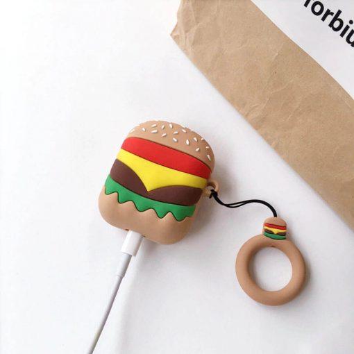 Hamburger airpods kılıfı şarja takılı