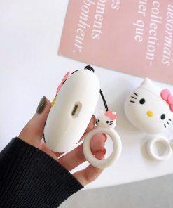 hello kitty desen airpods kabı şarj bölmesi