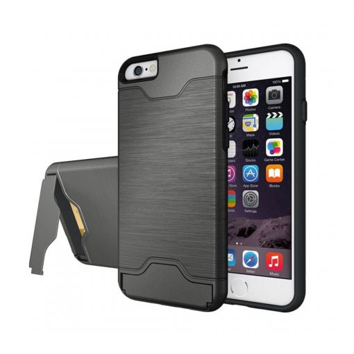 iPhone 6 6s gri renk standlı kılıf