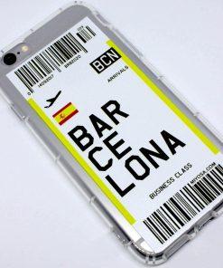 iphone 6 6s plus barcelona uçak bileti kılıf detaylı