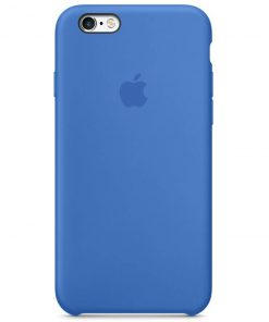 iphone 6 6s apple logolu royal blue lansman kılıf