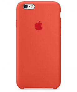 iphone 6 6s apple logolu spicy orange lansman kılıf
