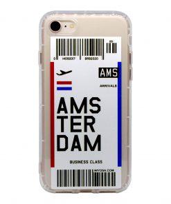 iphone 7 8 amsterdam bilet kılıf önden çekim