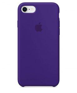 iphone 7 8 apple logolu dark purple lansman kılıf