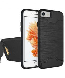 iPhone 7 8 siyah renk standlı kılıf