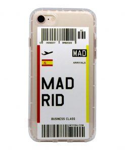 iphone 7 8 madrid bilet kılıf önden çekim