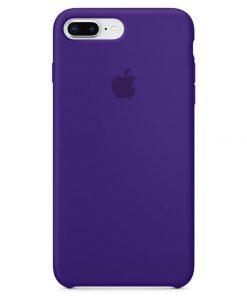 iphone 7 8 plus apple logolu dark purple lansman kılıf