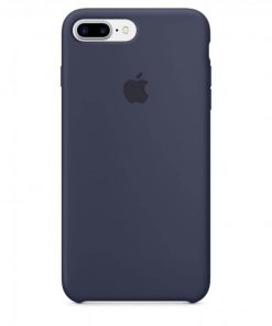 iphone 7 8 plus apple logolu midnight blue lansman kılıf