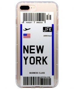 iphone 7 8 plus new york bilet kılıf önden çekim