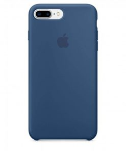 iphone 7 8 plus apple logolu ocean blue lansman kılıf
