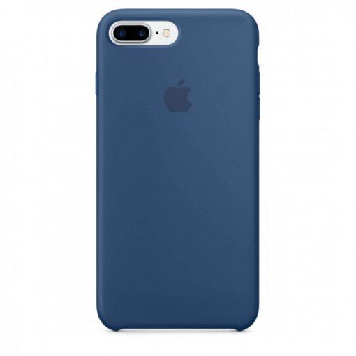 iphone 7 8 plus apple logolu ocean blue lansman kılıf