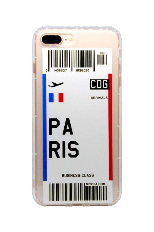iphone 7 8 plus paris bilet kılıf önden çekim