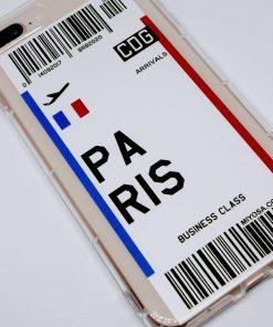 iphone 7 8 plus paris uçak bileti kılıf detaylı