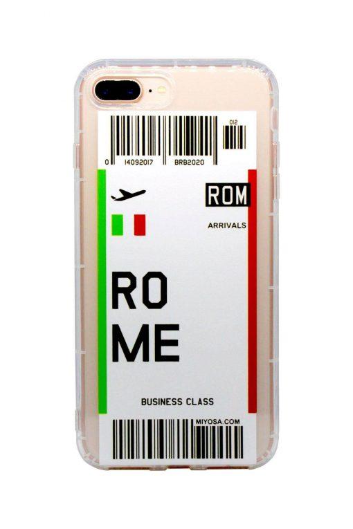 iphone 7 8 plus rome bilet kılıf önden çekim