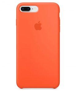 iphone 7 8 plus apple logolu spicy orange lansman kılıf