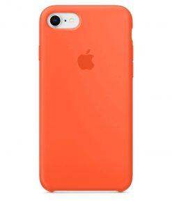 iphone 7 8 apple logolu spicy orange lansman kılıf