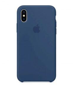 iphone x xs apple logolu ocean blue lansman kılıf