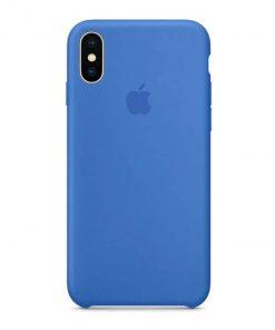iphone x xs apple logolu royal blue lansman kılıf