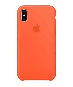iphone x xs apple logolu spicy orange lansman kılıf