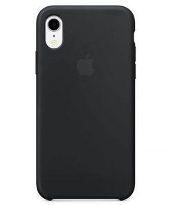 iphone xr apple logolu siyah lansman kılıf