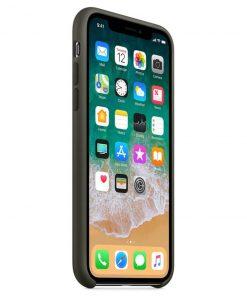 iphone xr dark olive lansman kılıf önden çekim