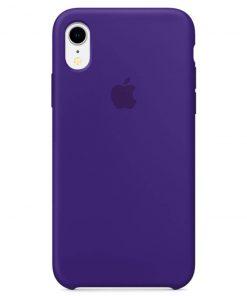 iphone xr apple logolu dark purple lansman kılıf