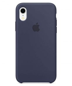 iphone xr apple logolu midnight blue lansman kılıf