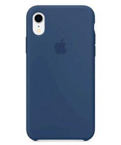 iphone xr apple logolu ocean blue lansman kılıf