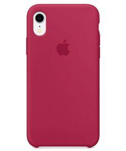 iphone xr apple logolu rose red lansman kılıf
