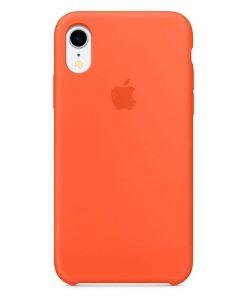 iphone xr apple logolu spicy orange lansman kılıf