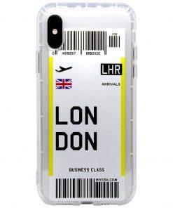 iphone xs max london bilet kılıf önden çekim