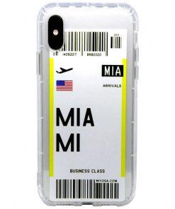 iphone xs max miami bilet kılıf önden çekim