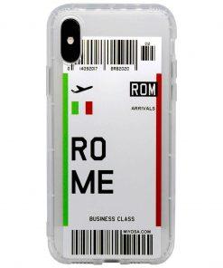 iphone xs max rome bilet kılıf önden çekim
