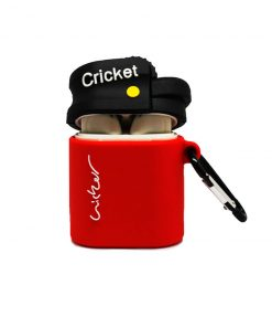 kapağı açık kırmızı çakmak desenli airpods kabı