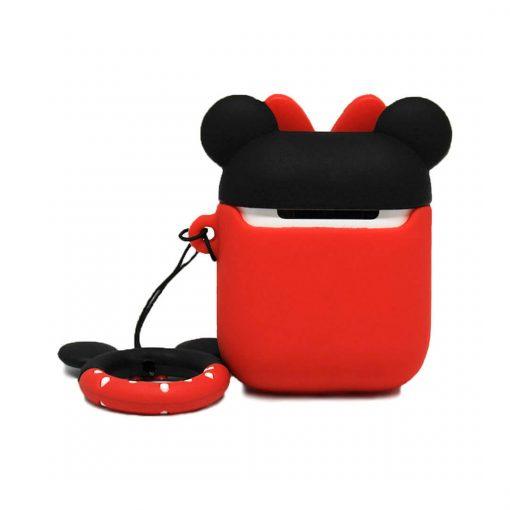 Minnie Mouse airpods kılıfı şarj bölmesi