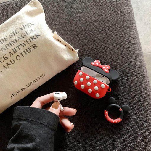Minnie Mouse desenli airpods pro korumalı kılıf