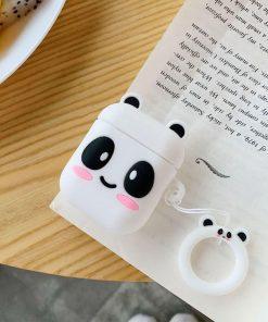 Panda desenli silikon airpods kılıfı