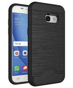 Samsung a3 2017 siyah renk standlı kılıf