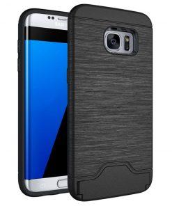 Samsung s7 edge siyah renk standlı kılıf