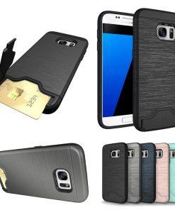 Samsung s7 uyumlu siyah, gri, lacivert, pembe kart bölmeli telefon kılıfı